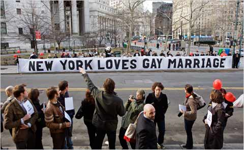Last week New York legalised gay marriage, which is truly inspiring and ...